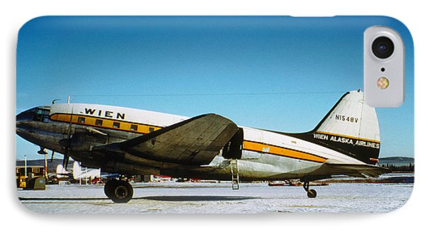 Wien Alaska Airlines Curtiss-wright Cw-20 N1548v IPhone Case by Wernher Krutein