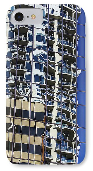 IPhone Case featuring the photograph Wiggly Balconies by Phyllis Denton