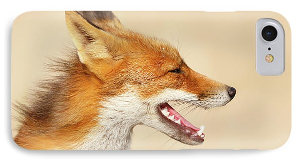 Wild And Free - Fox Portrait IPhone Case by Roeselien Raimond