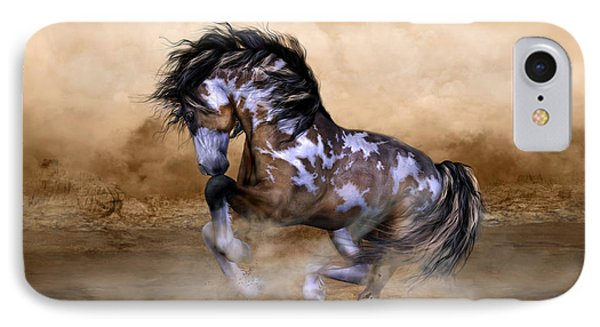 Wild And Free Horse Art IPhone Case by Shanina Conway