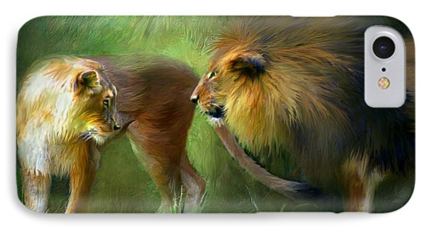 Wild Attraction Phone Case by Carol Cavalaris