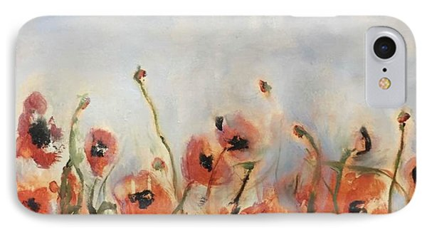 Wild Corn Poppies Underpainting IPhone Case