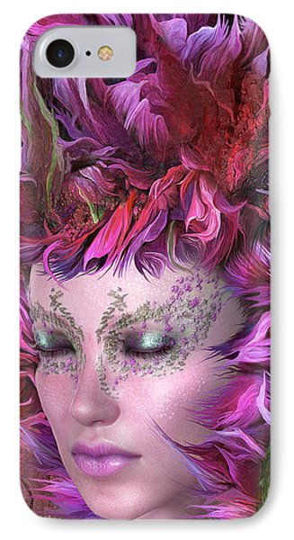 Wild Flower Goddess IPhone Case by Carol Cavalaris