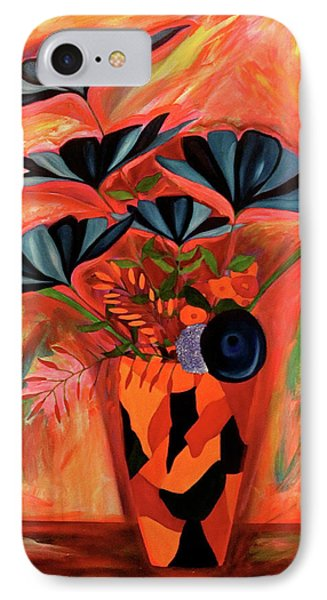 IPhone Case featuring the painting Wild Flowers  A Still Life  by Iconic Images Art Gallery David Pucciarelli