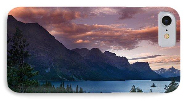 Wild Goose Island Glacier National Park Phone Case by Rich Franco