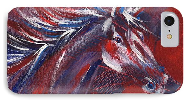 Wild Horse Bust IPhone Case by Summer Celeste