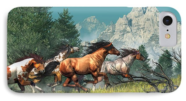 Wild Horses IPhone Case by Daniel Eskridge