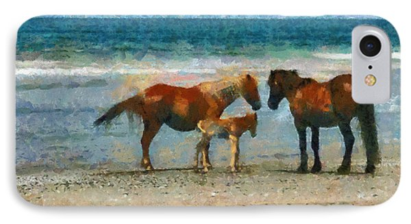 Wild Horses Of The Outer Banks IPhone Case