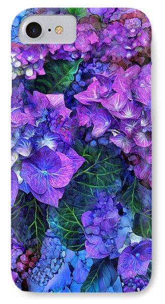 Wild Hydrangeas IPhone Case by Carol Cavalaris