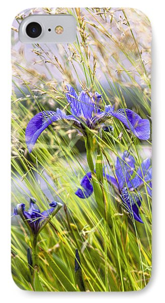 Wild Irises Phone Case by Marty Saccone