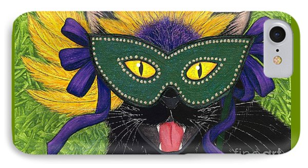 Wild Mardi Gras Cat IPhone Case