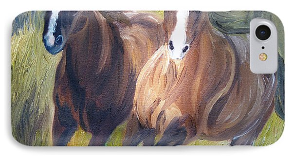 Wild Mustangs Phone Case by Michael Lee