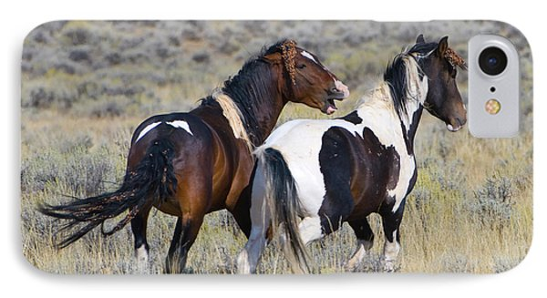 Wild Mustangs Playing IPhone Case