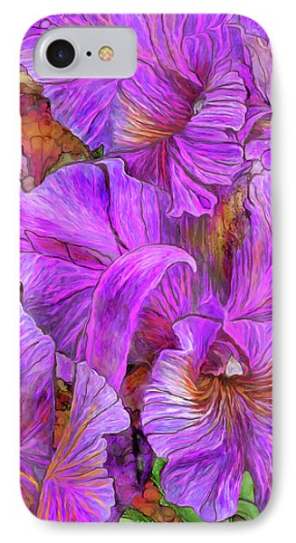 IPhone Case featuring the mixed media Wild Orchids by Carol Cavalaris