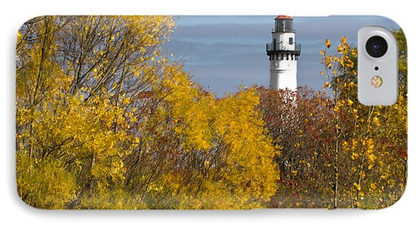 Wind Point Lighthouse In Fall IPhone 7 Case