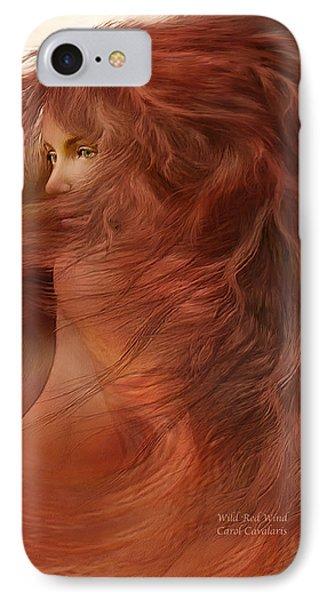 Wild Red Wind Phone Case by Carol Cavalaris