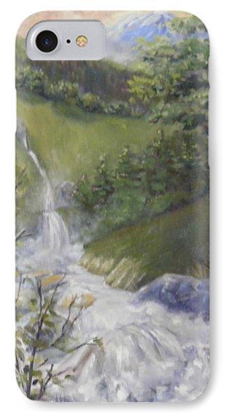 Wild River Below Mount Hood IPhone Case