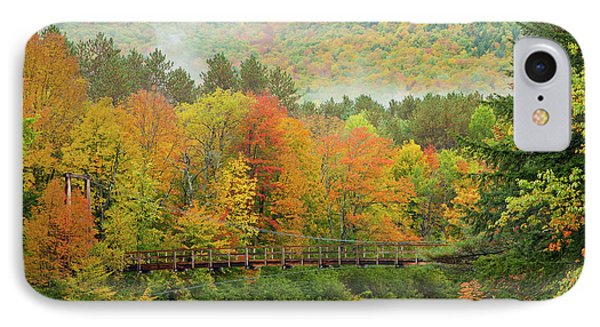 IPhone Case featuring the photograph Wild River Bridge by Susan Cole Kelly