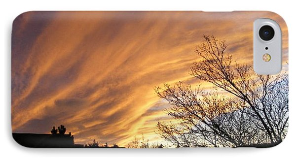 IPhone Case featuring the photograph Wild Sky Of Autumn by Barbara Griffin