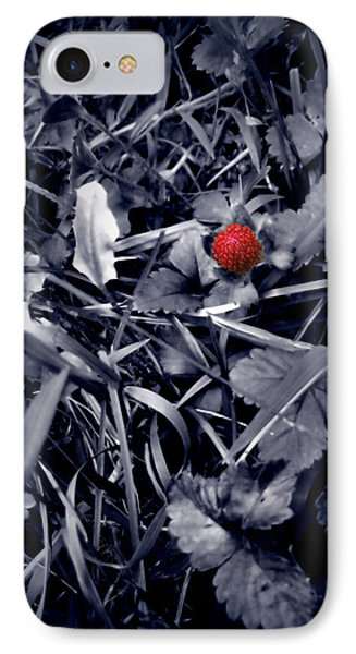 IPhone Case featuring the photograph Wild Strawberry by Iowan Stone-Flowers