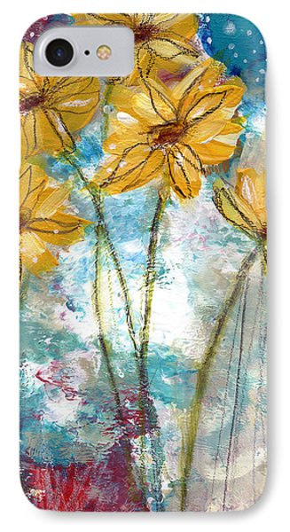 Wild Sunflowers- Art By Linda Woods IPhone Case