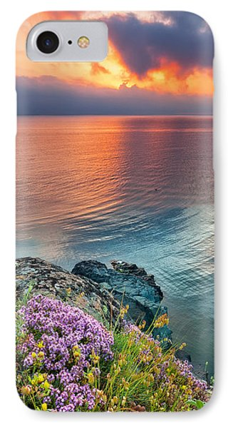Wild Thyme By The Sea Phone Case by Evgeni Dinev