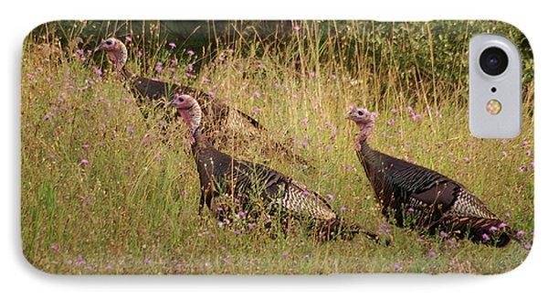 Wild Turkeys Phone Case by Michael Peychich