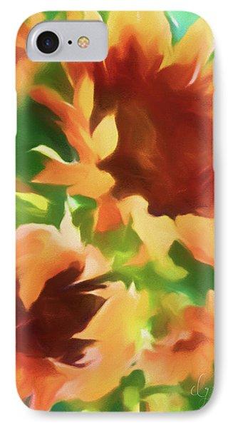 Wild Vibrant Sunflowers IPhone Case by Georgiana Romanovna