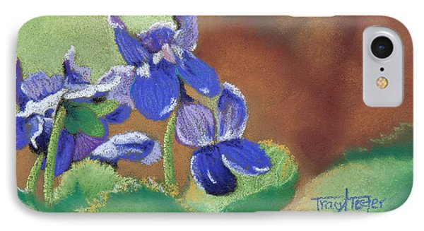 Wild Violets Phone Case by Tracy L Teeter