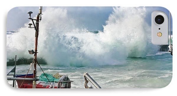 Wild Waves In Cornwall Phone Case by Terri Waters