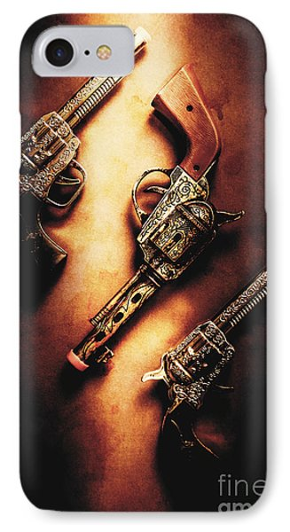 Wild West Cap Guns IPhone Case by Jorgo Photography - Wall Art Gallery