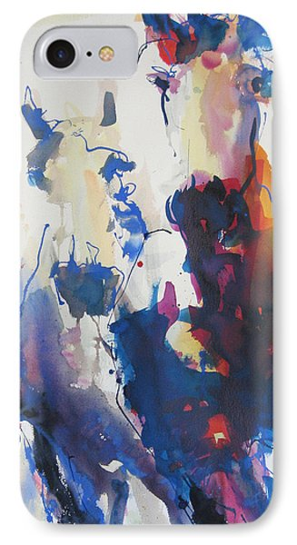 IPhone Case featuring the painting Wild Wild Horses by Robert Joyner