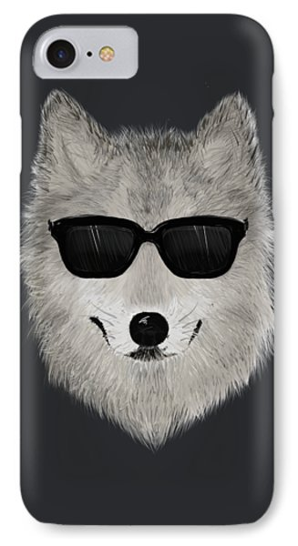Wild Wolf From 80s - V01 IPhone Case by David Ardil