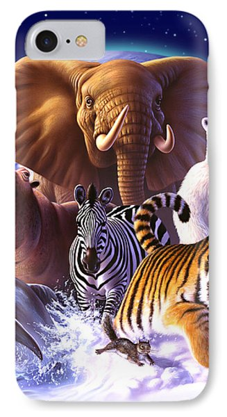Planets iPhone 7 Case - Wild World by Jerry LoFaro