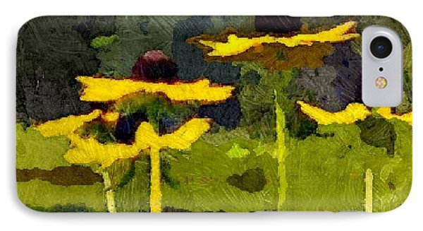 Wild Yellow Coneflowers 26 IPhone Case by Don Berg