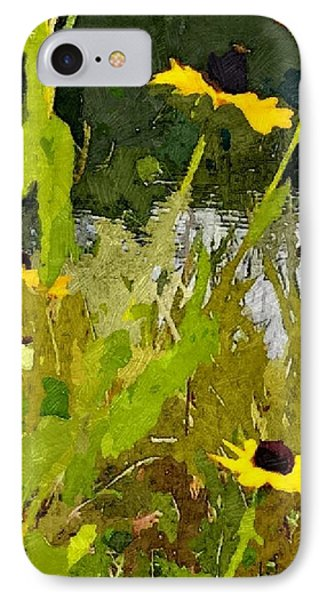 Wild Yellow Coneflowers 29 IPhone Case by Don Berg