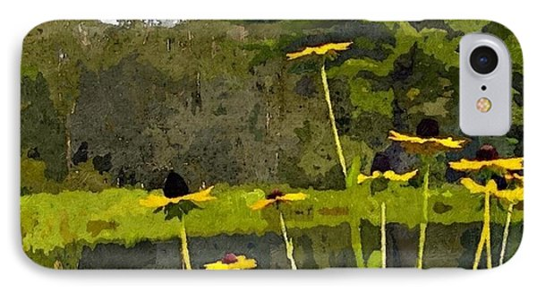 Wild Yellow Coneflowers 31 IPhone Case by Don Berg