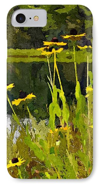 Wild Yellow Coneflowers 7 IPhone Case by Don Berg