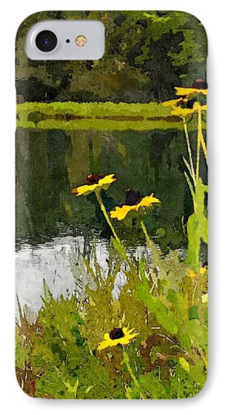 Wild Yellow Coneflowers 8 IPhone Case by Don Berg