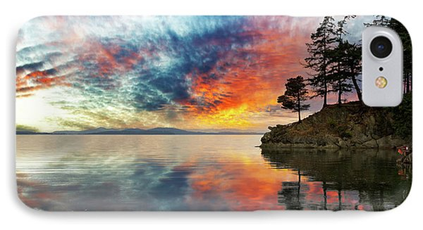 Wildcat Cove In Washington State At Sunset Phone Case by David Gn