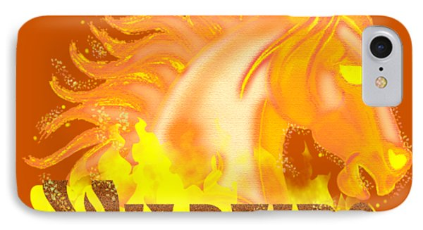 IPhone Case featuring the mixed media Wildfire by J L Meadows