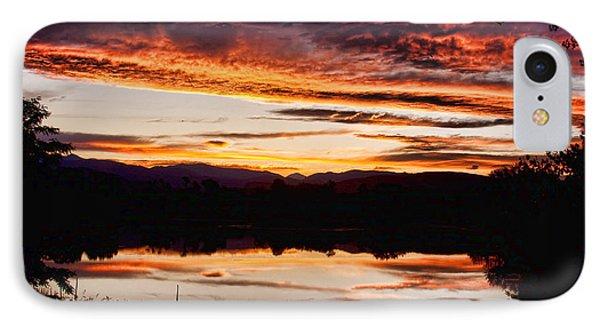 Wildfire Sunset Reflection Image 28 IPhone Case