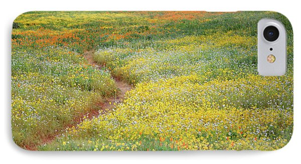 IPhone Case featuring the photograph Wildflower Field Near Diamond Lake In California by Jetson Nguyen