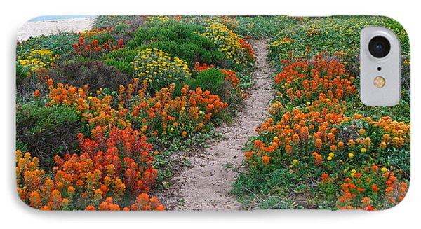 Wildflower Path At Ribera Beach IPhone Case