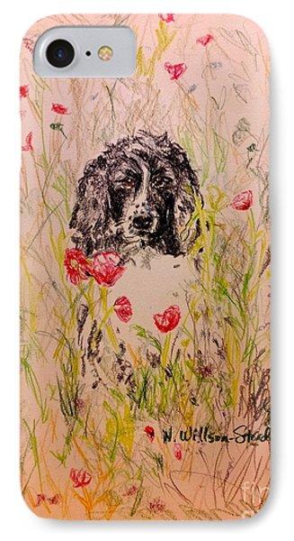 Wildflower Spaniel IPhone Case by N Willson-Strader