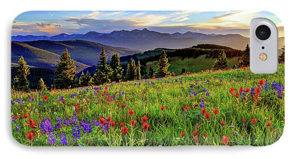 Wildflower Sunset Hill IPhone Case by Scott Mahon