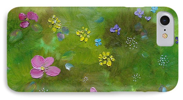 IPhone Case featuring the painting Wildflower Support by Judith Rhue