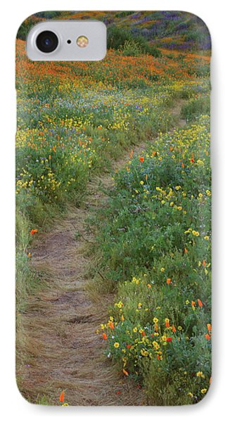 IPhone Case featuring the photograph Wildflower Trail At Diamond Lake In California by Jetson Nguyen