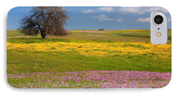 IPhone Case featuring the photograph Wildflowers And Oak Tree - Spring In Central California by Ram Vasudev