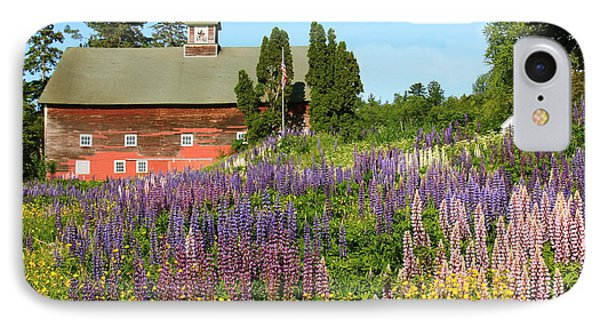 IPhone Case featuring the photograph Wildflowers And Red Barn by Roupen  Baker